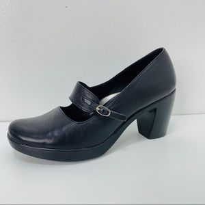 Dansko Black leather heeled Mary Janes